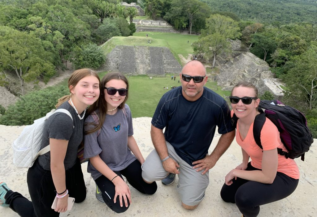 Family vacationing in Mexico