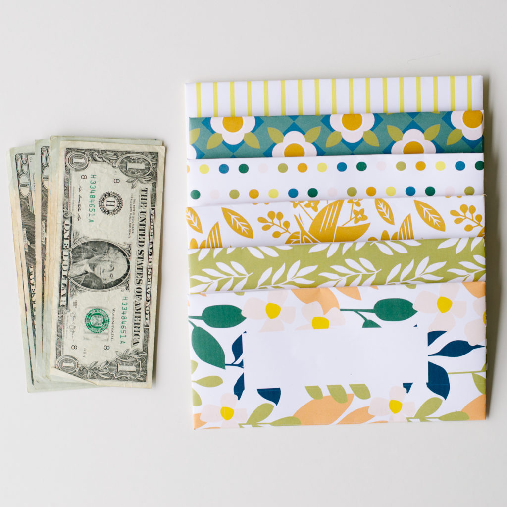 colorful cash envelopes Dave Ramsey