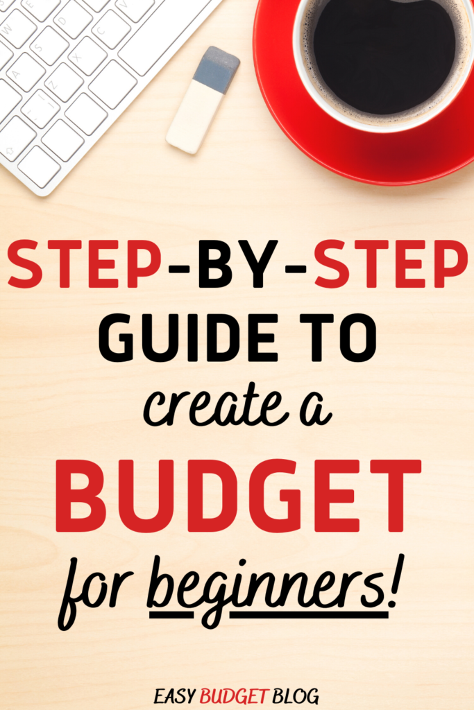 how to make a budget Pinterest image