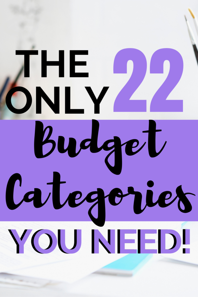 budget categories pin image