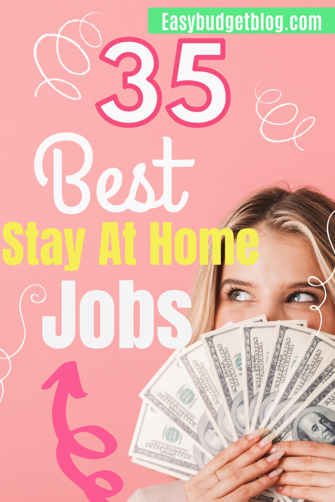 stay at home jobs pin