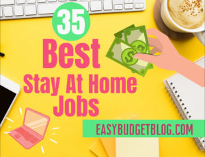 best stay at home jobs text image