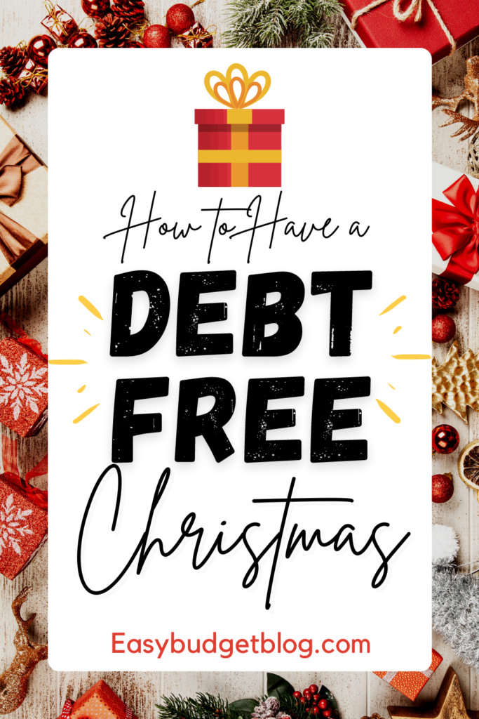 debt-free Christmas pin image