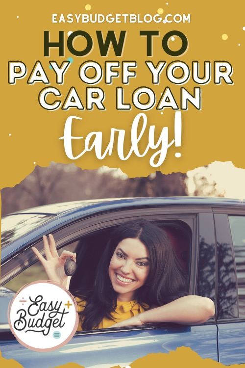 how to pay off car loan early pin image
