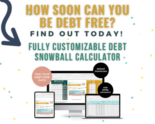 debt snowball spreadsheet calculator for excel or google sheets