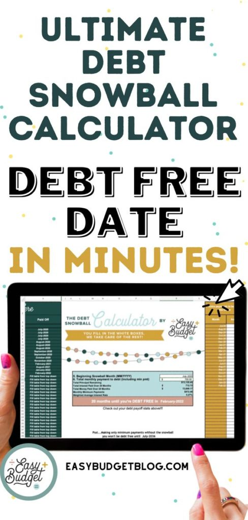 The Best Automatic Debt Snowball Spreadsheet - Calculate Your Debt-free Date - Easy Budget