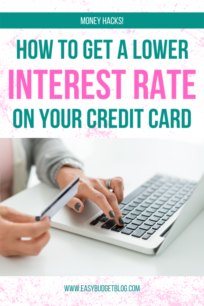 how to get a lower interest rate on your credit card
